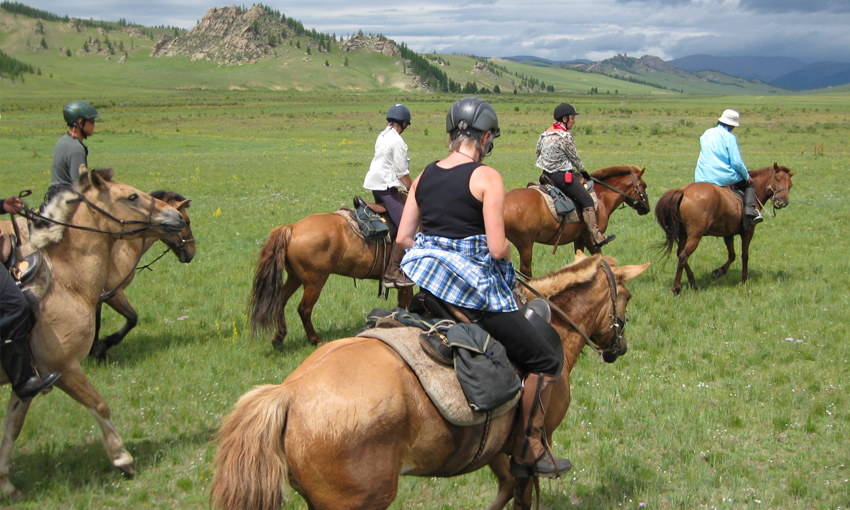 In the saddle Mongolia